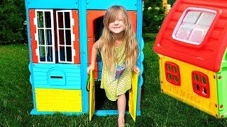 Pretend Play with Playhouse for kids  Funny video Compilation