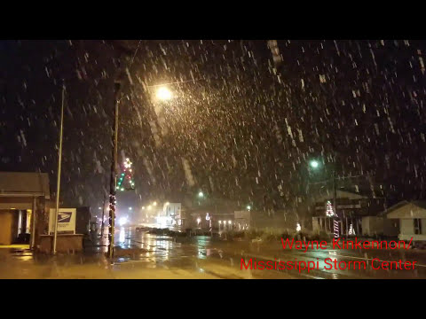 Mt. Olive / Collins, MS Snowstorm 12.7.17 - 12.8.17