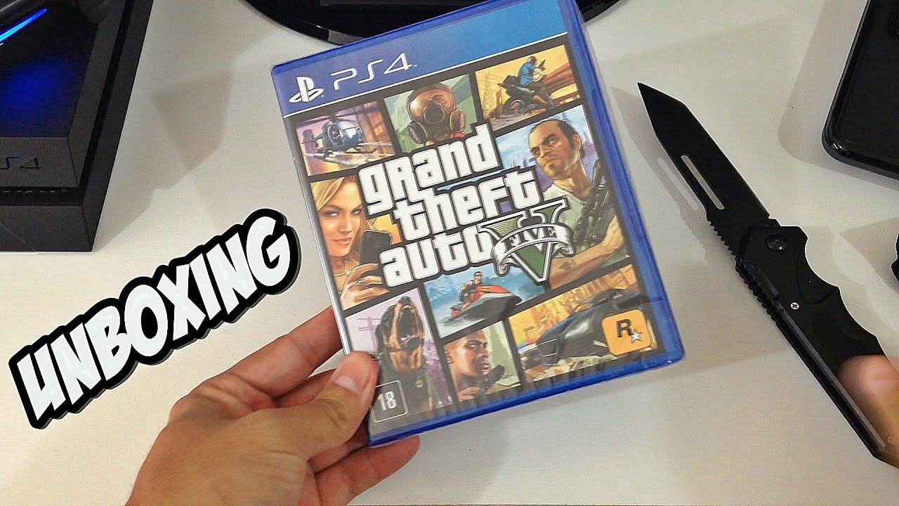 Unboxing Gta V Ps Legendado Em Portugues Do Brasil Playstation