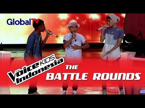 "Stevanus vs Genta vs Pedro ""Mahadewi"" | The Battle Rounds | The Voice Kids Indonesia 2016"