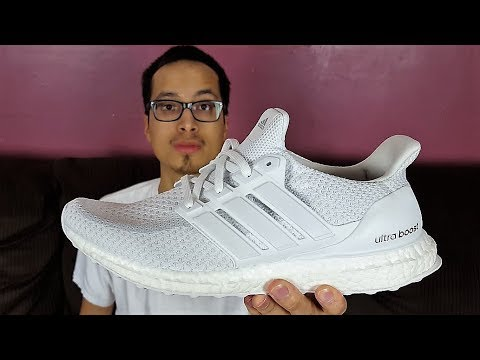 d3631b777 Ebay STEAL!!! Adidas Ultra Boost 2.0 Triple White Review!  LATE Upload