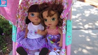 Baby Alive Park Outing and the Missing Shoe! Baby Alive Dolls Play Hide and Seek!