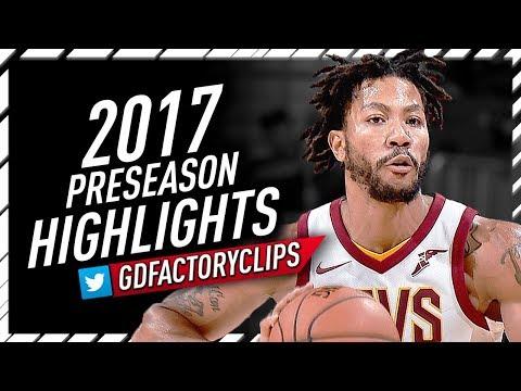 Derrick Rose 2017 Preseason Offense Highlights Montage - Cavaliers Debut!