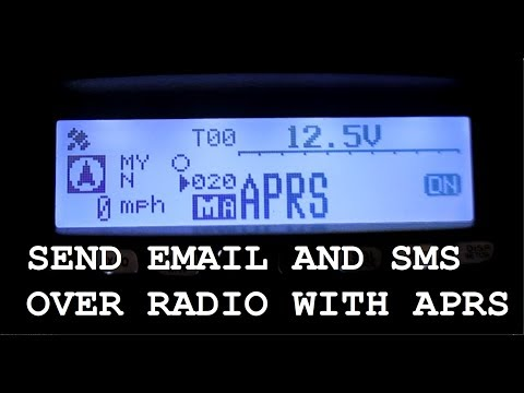 How To Send EMAIL And SMS Text With APRS