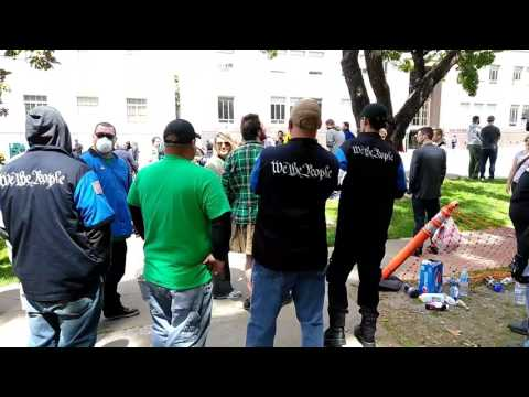 Berkeley Patriots Day free speech rally; bike lock attack at 10:04