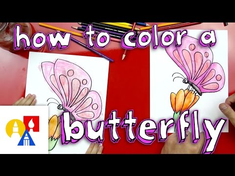 How To Color A Butterfly With Watercolor Pencils