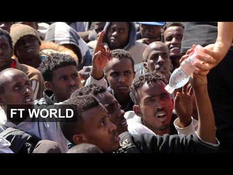 Migrant tide swamps broken Libya
