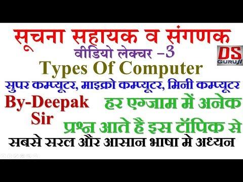Informatics Assistant | Sanganak Vacanc | Types Of Computer | RSMSSB | DSGuruJi | IA | Computer 2018