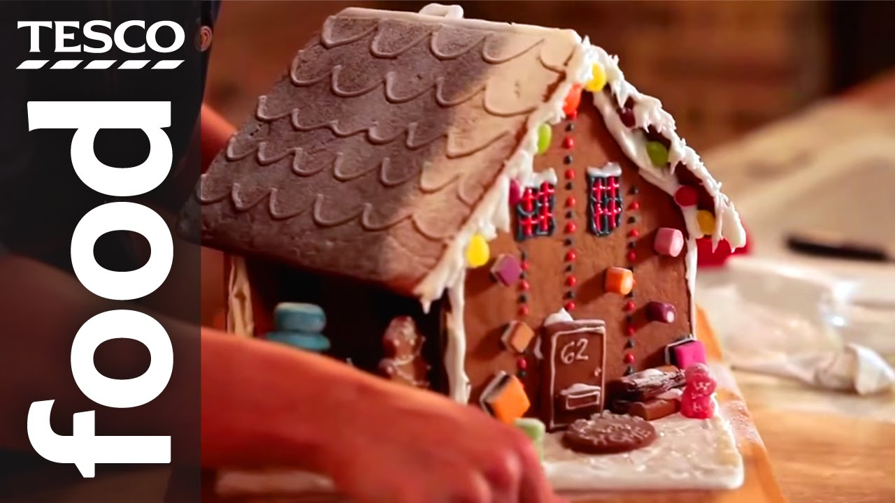 How to make a gingerbread house tesco food youtube solutioingenieria Images