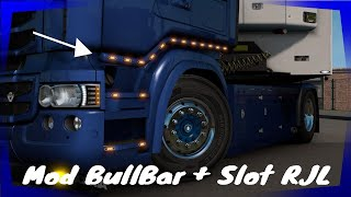 "[""Euro Truck Simulator 2 - Mod Bull bar + Slot Scania RJL 1.40"", ""euro truck simulator 2"", ""g29"", ""gameplay"", ""euro truck simulator"", ""american truck simulator"", ""truck simulator"", ""ita"", ""mod"", ""ets2 g29"", ""ets2 mods"", ""ets2 gameplay"", ""scania"", ""scania trucks"", ""scania 4 series v8 sound"", ""scania rjl"", ""trailer"", ""Scania S"", ""scania s tuning"", ""tandem"", ""chassis"", ""lets play a little game just between you and me"", ""ets2 mod"", ""1.39"", ""bull bar RJL"", ""scania tuning"", ""scania rjl tuning"", ""mod scania rjl"", ""rjl 1.40"", ""Scania rjl 1.40""]"
