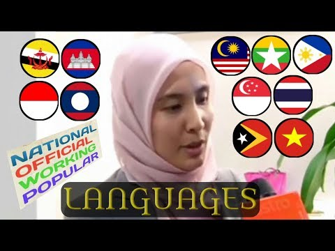Southeast Asia's National & Official Languages, Working Languages and Popular Foreign Languages
