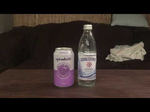 Jon Drinks Water #4874 Gerolsteiner Mineral Water VS Spindrift Sparkling Water, Blackberry