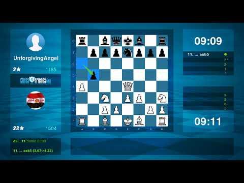Chess Game Analysis: عبد الله المتولي UnforgivingAngel : 10 (By ChessFriends.com)