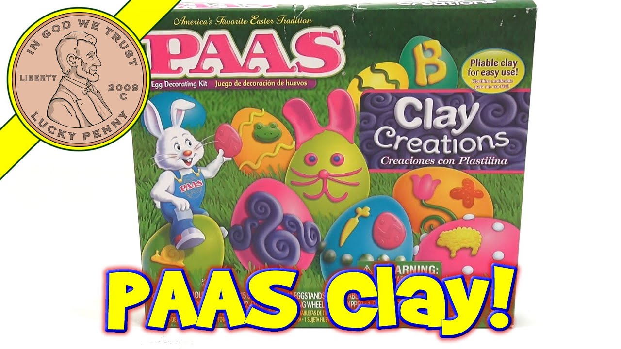 PAAS Clay Creations Easter Egg Decorating Kit