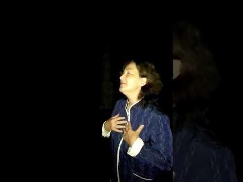 She start to sing in Devetashka cave in Bulgaria.Just watch!