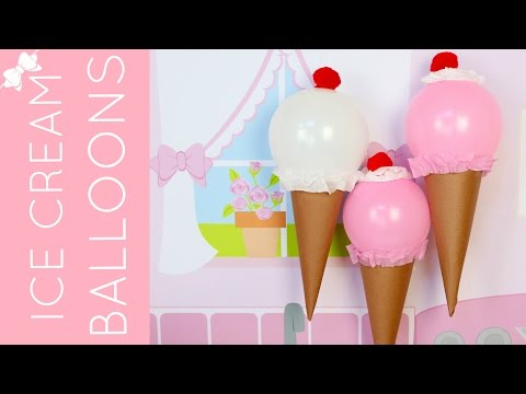 How To Make DIY Ice Cream Cone Balloons for Birthday Parties & Summer Fun // Lindsay Ann Bakes