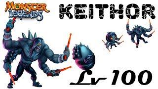 Keithor монстр на прокачку 1-100 Легендарный мрака Monster Legends