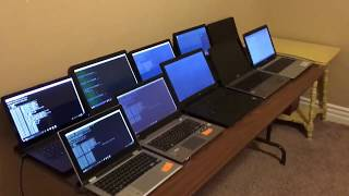 Bitcoin Mining w/ 10 Laptops!!! $$