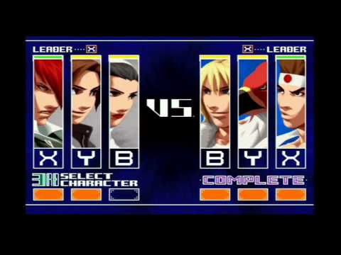 King of Fighters 2003 - Arcade Mode Gameplay with Kyo, Iori, & Chizuri (Sacred Treasures Team.)
