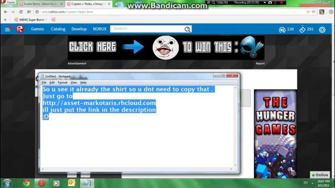 How To Copy A Shirt On Roblox 2015 Un Patched Youtube
