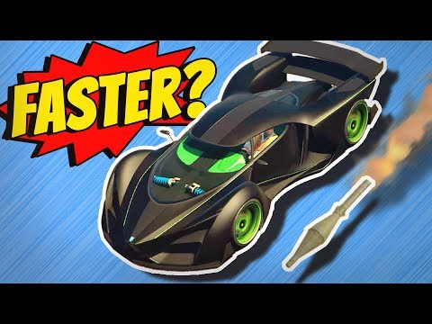 GTA 5 - Driving FASTER THAN A ROCKET?
