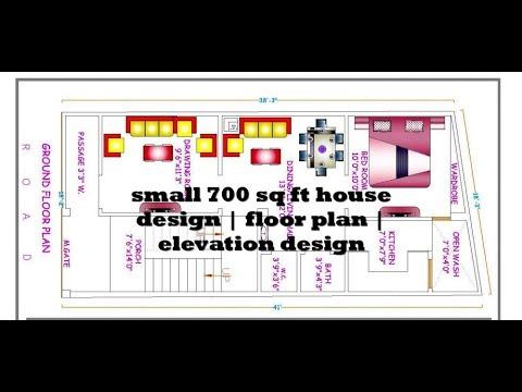 small 700 sq ft house design | floor plan | elevation design ...