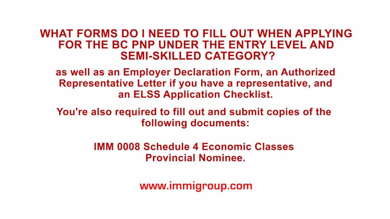 What forms to fill out when applying for the bc pnp under the entry what forms to fill out when applying for the bc pnp under the entry level and semi skilled category spiritdancerdesigns