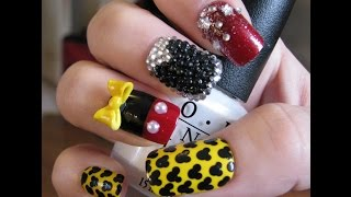 Mickey Mouse Nail Art Tutorial