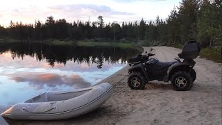 Рыбалка на квадриках CFMoto - Мурманская область (Кольский полуостров) кумжа, окунь, щука(Добираемся до места рыбалки по болотам на двух квадроциклах CFMoto X6 & X5. Очень хорошо клевала рыба, но не та..., 2016-09-12T20:24:39.000Z)