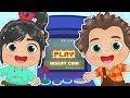 BABY ALEX AND LILY Dressing up as Wreck-it Ralph 🎮 Educational Cartoons