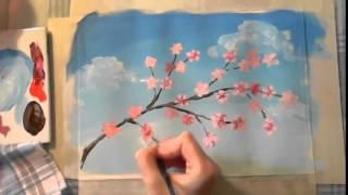 Уроки Рисования для Детей  Гуашь  Рисуем Весну