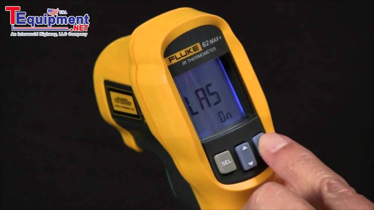 Fluke 62 Max Ir Thermometer Activating The Laser Pointers Youtube