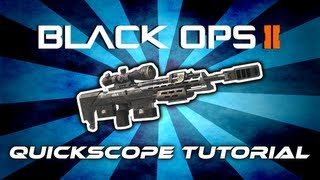 Black Ops 2 - Quickscope/Snipe Tutorial (Deutsch/German)