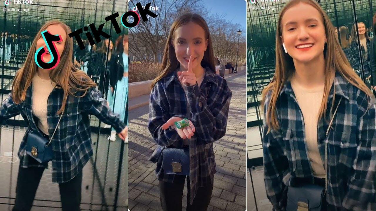 Polina Hot Girl TikTok Parkour Challenge 2021 popcornrest   TikTok Compilation PopCornRest