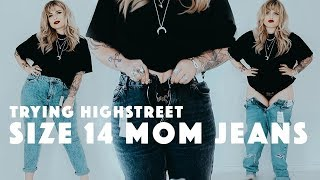 TRYING DIFFERENT SIZE 14 HIGHSTREET 'MOM' JEANS
