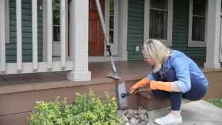 How to stain a porch in record time