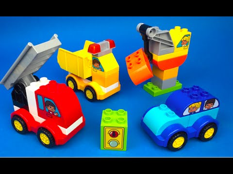 Stop Motion Lego Duplo My First Cars and Trucks Toys for Kids Fire ...