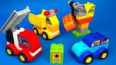 Мои первые машинки ЛЕГО ДУПЛО Играем в конструктор Lego Duplo set .