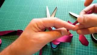 This short simple demonstration shows simply how to cut ribbon 4 wa...