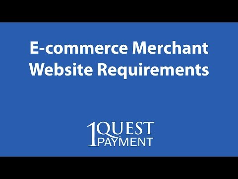 E-commerce Merchant Services Website Requirements To Accept Credit Cards Online - Orlando, FL
