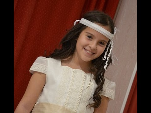 ALICIA MAKING OF DE LA PRUEBA DE MI VESTIDO DE PRIMERA COMUNION
