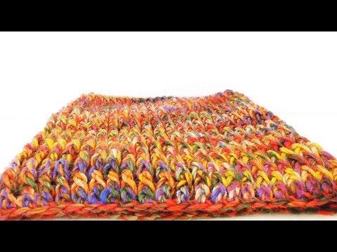 Single Loop Häkeln – Anleitung für einen bunten Schal mit Stäbchen