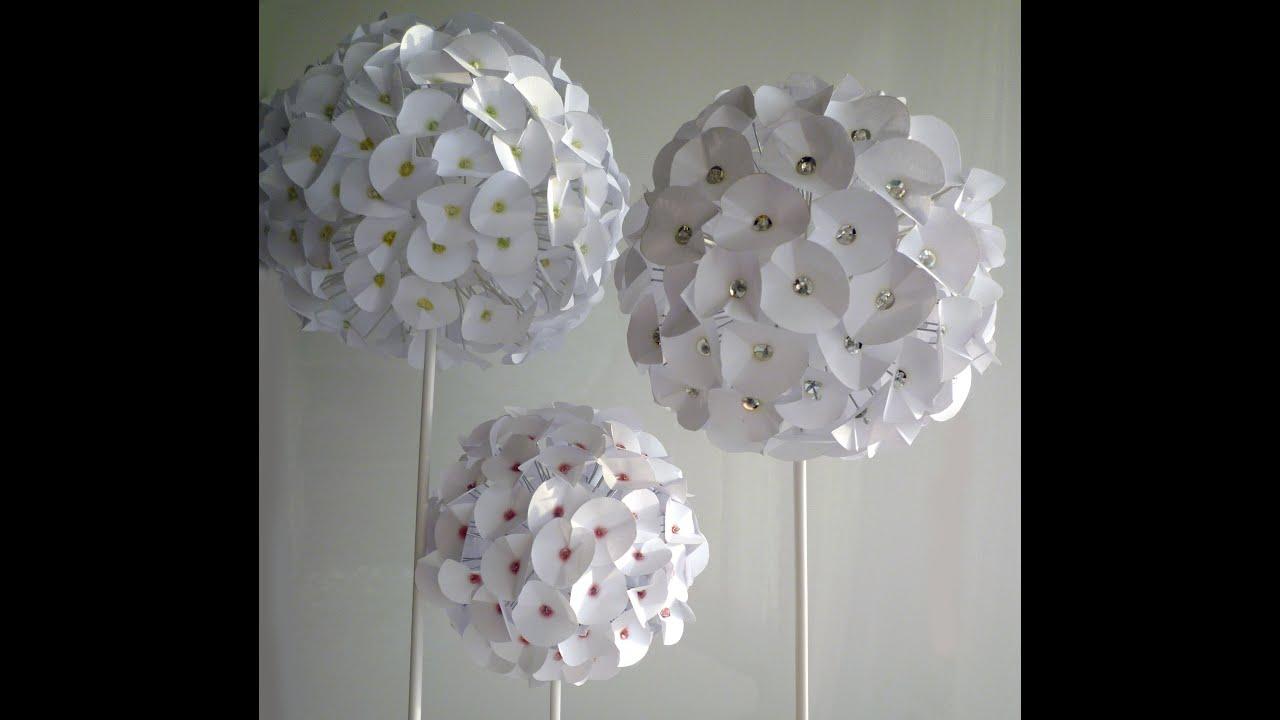 paper flower - fleur en papier - flor de papel - youtube