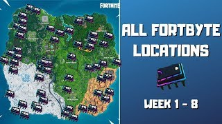 All Fortbyte Locations (week 1-8)! Every Hidden Fortbyte in Fortnite! - Fortbyte Challenges Season 9