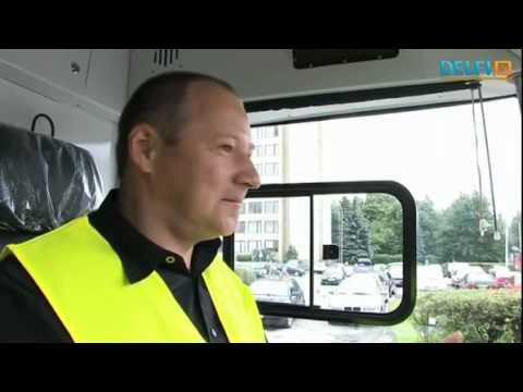 "Vilnius Trolleybus Depot testing Belorusian toleybus ""Витовт"" (Vitovt)."
