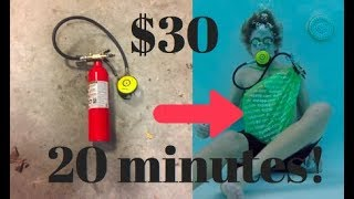 How to make a simple scuba tank