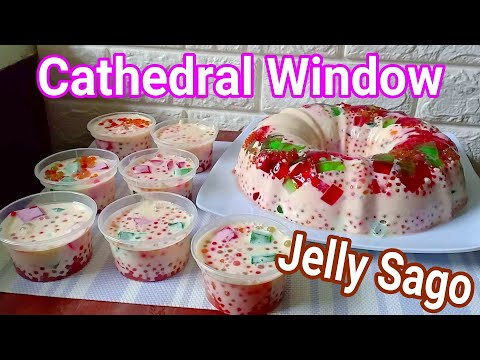 Cathedral Window Jelly Sago