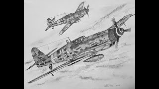 How to Draw a Messerschmitt BF 109 (ME109)