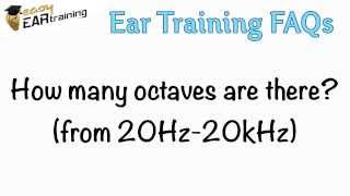 How many octaves are there? (from 20Hertz to 20kHz)