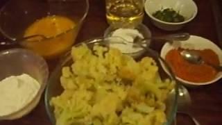 Цветная капуста в омлете с зеленью\Вегетарианское блюдо.